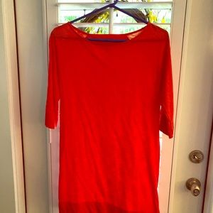 Lilly Pulitzer Coral t-shirt dress